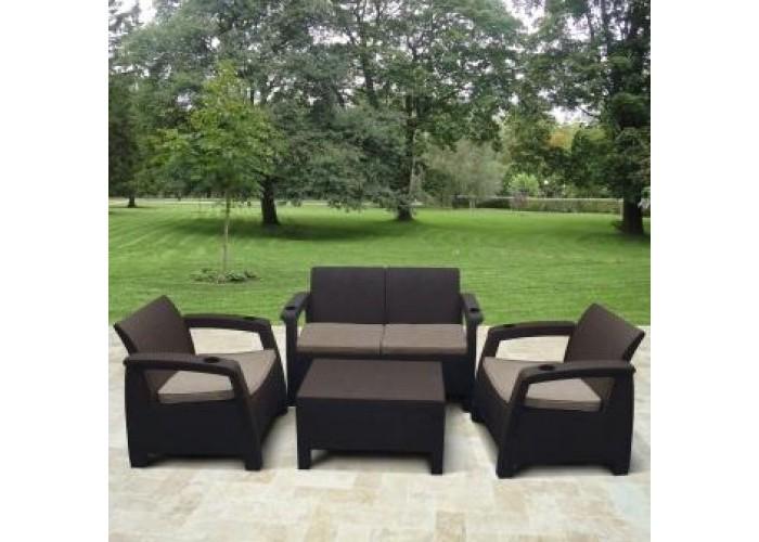 Комплект плетеной мебели Yalta M6142 Brown