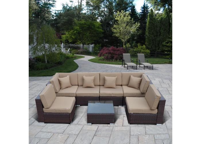 Комплект плетеной мебели  YR822 Brown